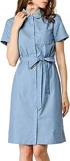 Amazon.com: Chambray Belted Shirt Dresses