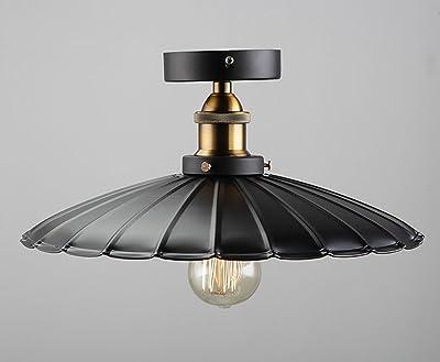 Plafoniere Industrial Style : Lampada da soffitto in vetro trasparente industriale retrò ferro