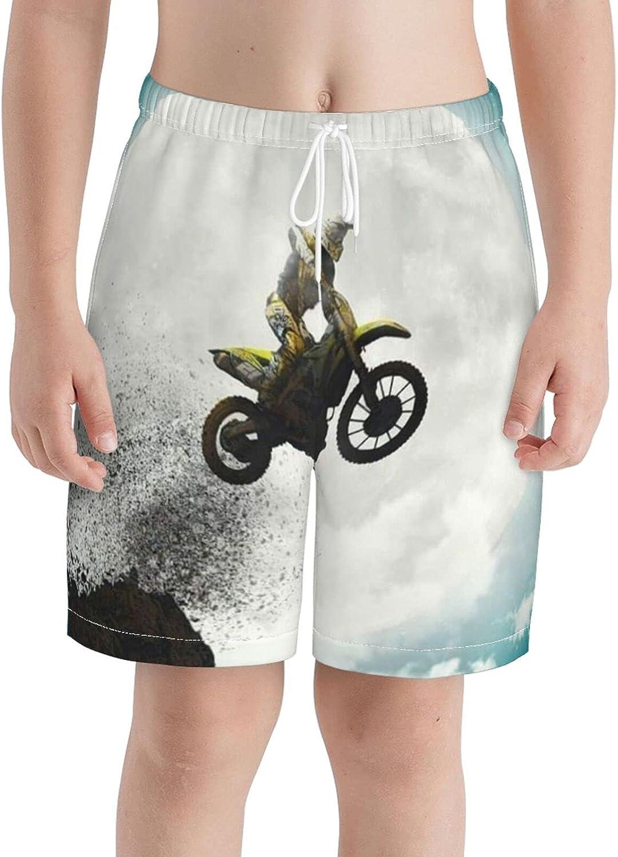 KAETZRU Boys Swim Trunks Beach Board Shorts Bike Jump Moon Teens with Pockets Swimwear