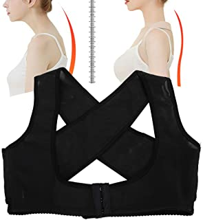 Starmace 2 Pack Women/'s Hunchback Posture Position Corrector Back Brace with Chest Push Up Bra Support L//XL, Black