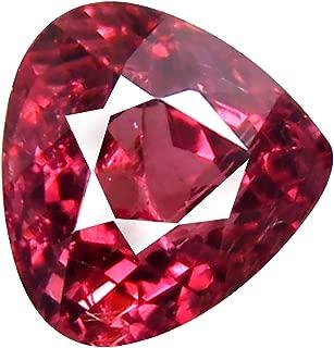 1.19 ct AAA+ Grade Pear Shape (6 x 6 mm) Unheated Pink Malaya Garnet Natural Loose Gemstone