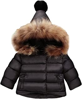 Bambina e Bambino Cappotti Tauser Piumino da Bambina Spesso con Cappuccio Manica Lunga Invernale con Cappuccio