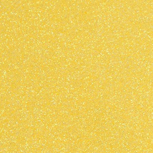 1 Sheet of 12 x 20 Glitter Iron On Heat Transfer Vinyl (Lemon Sugar)