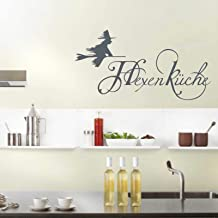 Indigos UG wandtattoo – muursticker – muurtattoo hekskeuken – decoratie keuken woonkamer muur 114x58cm antraciet