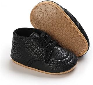 Baby Boys Girls Unisex PU Multicolor Shoes Toddler Anti-Slip Soft Sole Walking Shoes Autumn Winter (Color : B, Shoe Size :...