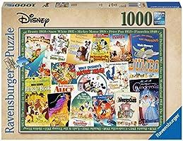 Ravensburger Puzzle 19874 Stare Plakaty Z Filmów Disney 1000 Elementów Puzzle Dla Dorosłych (19874) Unikalne Elementy,...