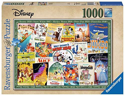 Ravensburger Puzzle 19874 - Disney Vintage Movie Poster - 1000 Teile Puzzle für Erwachsene und Kinder ab 14 Jahren, Disney Filmplakate zum puzzeln