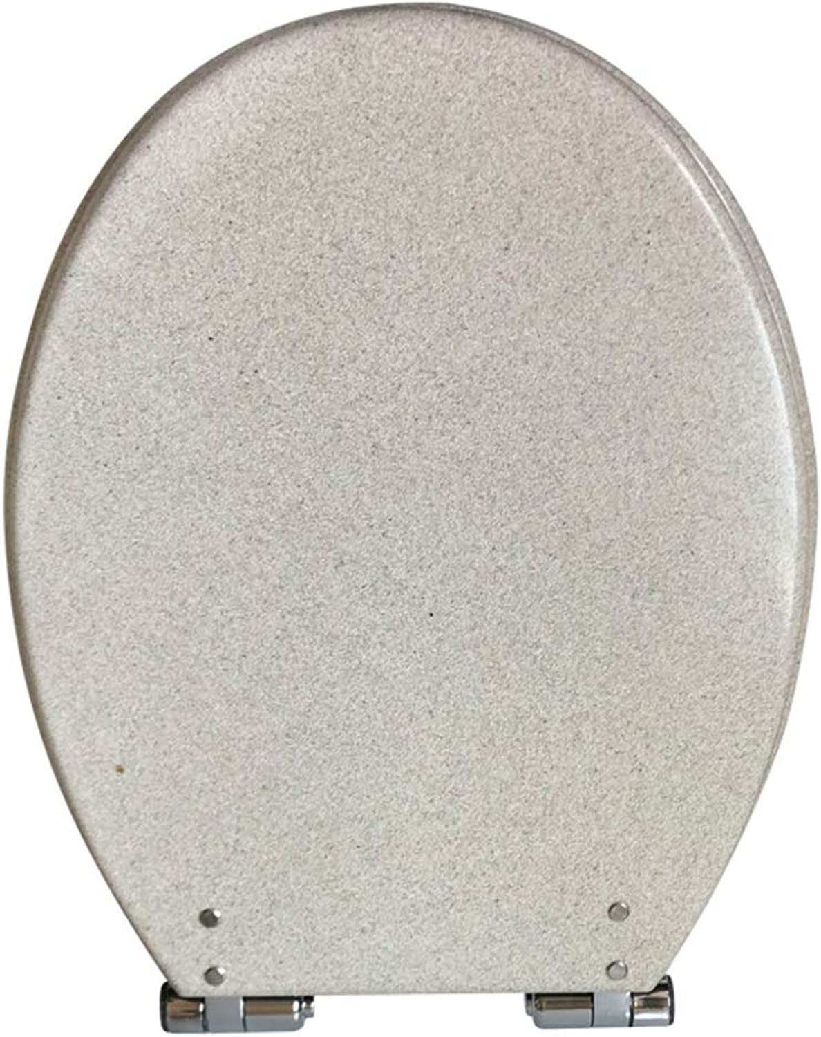 LBRVICTRY Resin Toilet Seat U V O Type Universal,Soft Close, Stainless Steel Hinges Easy To Install,White-Upperfixed
