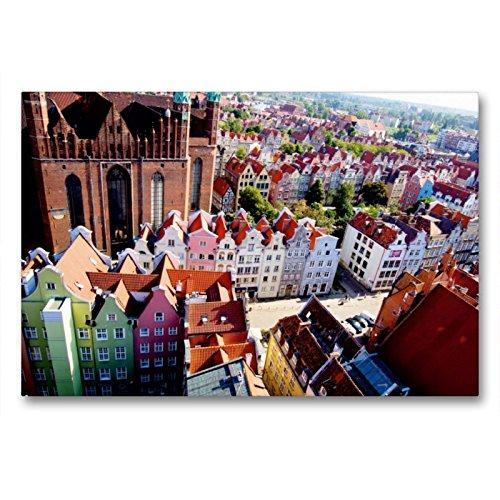Calvendo Danzig – Parte Izquierda de la Iglesia Mariana 1343-1502, Parte Derecha de la Puerta Trasera del Gas Femenino, 90x60 cm