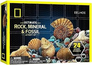 Ensemble de calendrier de l'avent de no?l coffret cadeau minéraux minéraux calendrier de compte à rebours 24 jours enfants...