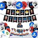 Trump Theme Birthday Decorations Party Supplies Against Virus Party Social...