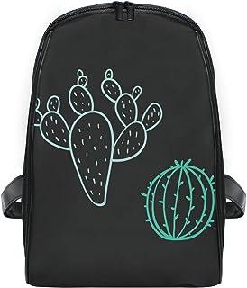 FANTAZIO Mochila Delgada con Cremallera para Dibujar Cactus, Mochila de Viaje para niños