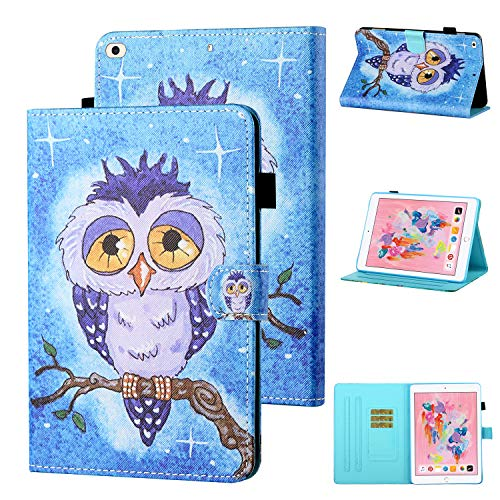 WHWOLF Suitable for iPad 9.7 Case (2017 & 2018) with Stand Pocket Shockproof Soft TPU Back Case Tablet Cover -oL71
