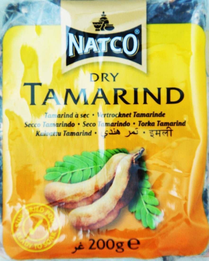 Natco - Dry Tamarind- Pata de Tamarindo Secos al Sol - Producto de la India - 200 Gramos