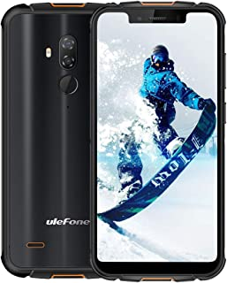 "Rugged Cell Phones Unlocked,Ulefone Armor 5S IP68 Dropproof Waterproof Smartphones,Octa-Core 4GB+64GB ROM 5.85"" FHD+ Screen Android 9.0 5000mAh Battery Global 4G LTE Dual SIM Rugged Phones-Black"