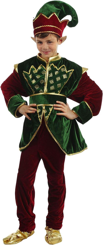 ber Disfraces Costume Elfo di Babbo Natale – Bambino Deluxe (Taglia 4 (3-4 Anni))