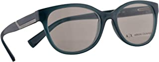 Armani Exchange AX 3032 Eyeglasses 53-17-140 Deep Pond Milky w/Demo Clear Lens 8190 AX3032