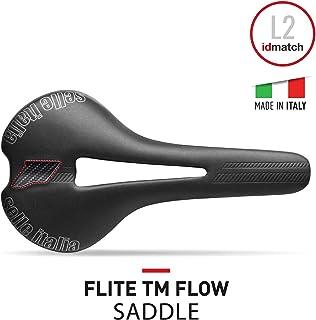 Selle Italia - Sillìn Bicicleta de Carretera FLITE TM Flow, Rail Manganese Tubo Ø7, Sillìn Road Perfomance Duro-tek, Comfort