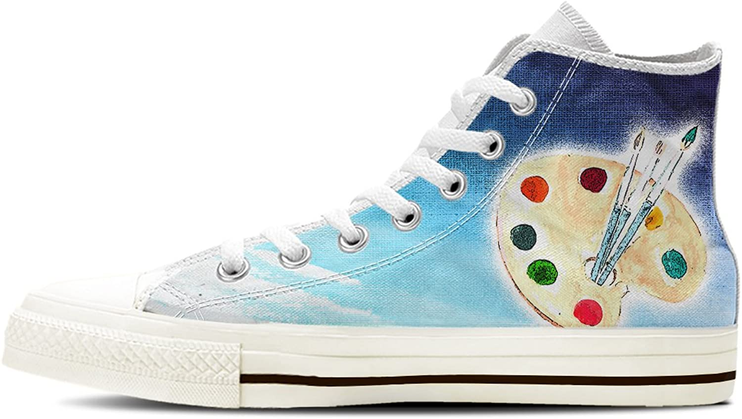 Gnarly Tees Men's Painting Artist shoes High Top