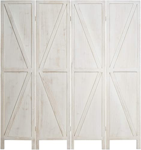 popular Giantex 4 Panel Folding new arrival Screen, 5.6 Ft Screen 2021 Room Divider w/ V-Shaped Long Edge Ornament, Wood Folding Privacy Screens (White) outlet sale