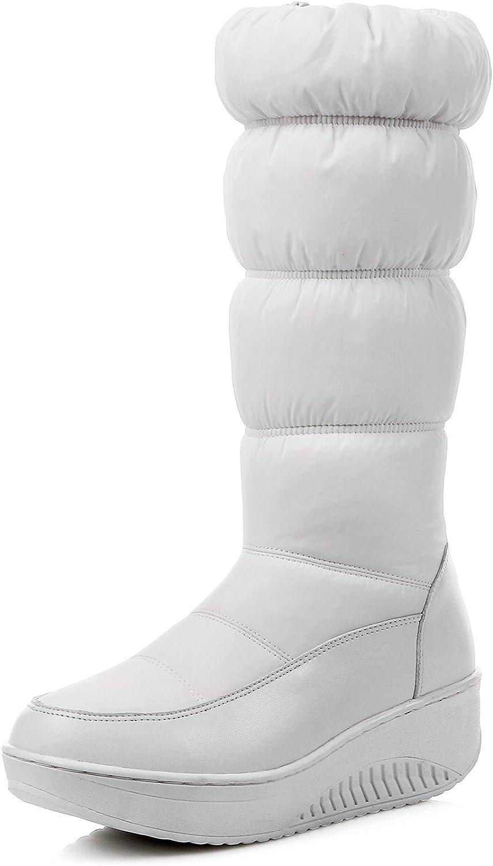 CHENSIR9 Waterproof Snow Boots Women Knee High Boots Flat Heels Handmade Winter Boots Women Fashion shoes