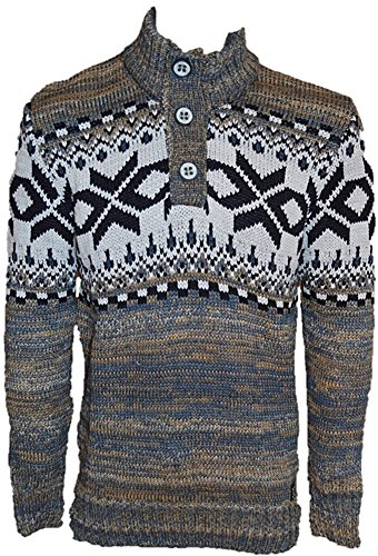 CARISMA Schicker Grob-Strickpullover CRM7393 Norwegerpullover Camel 3XL | Bekleidung > Pullover > Norwegerpullover | CARISMA
