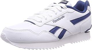 Reebok Boys Royal Glide Ripple Sneaker, White/Bunker Blue