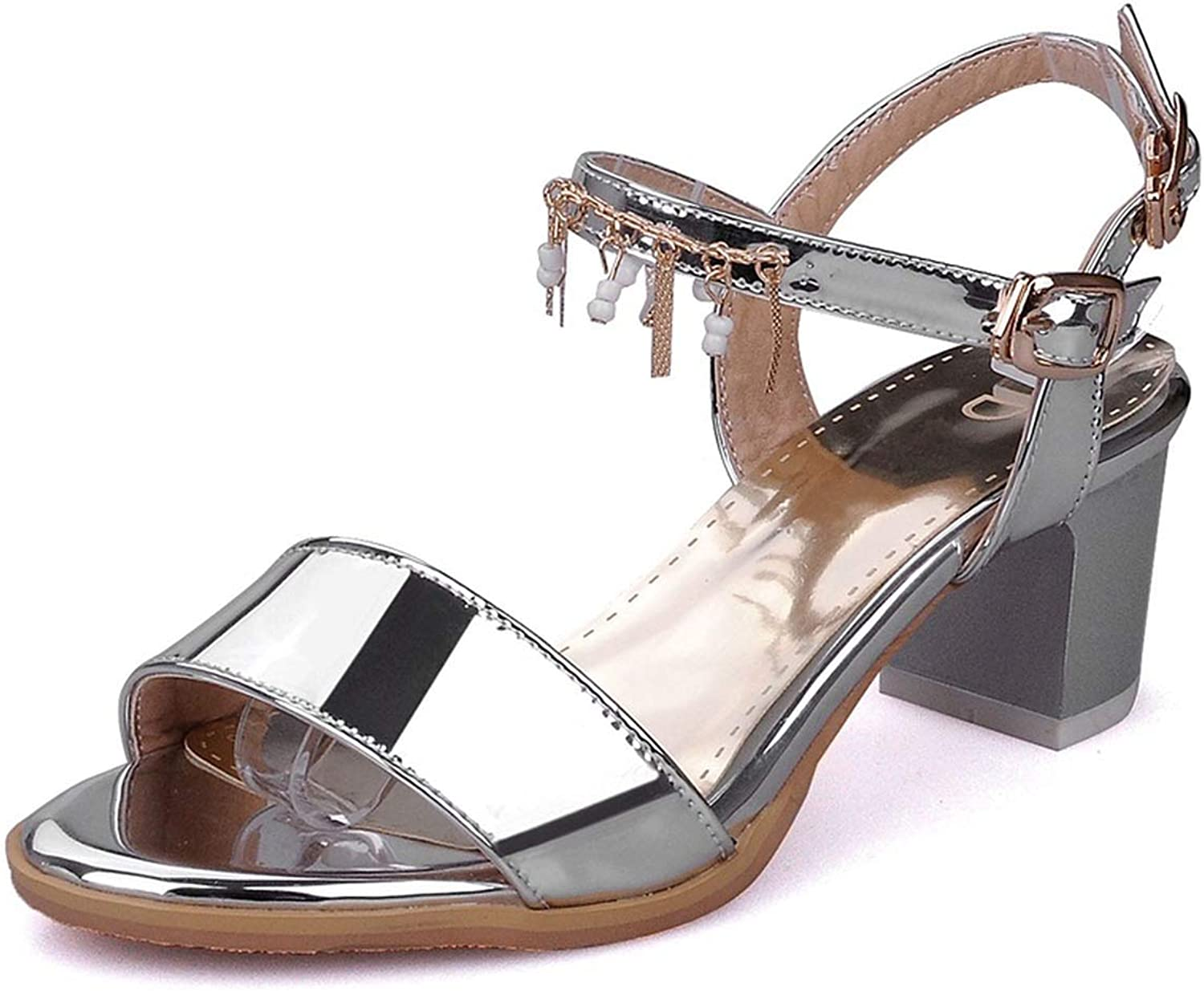 QianQianStore Summer Sexy Women Sandals Heels Ankle Strap Buckle Party shoes