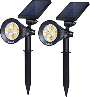Nekteck Solar Lights Outdoor, 2-in-1 Solar Spotlights...