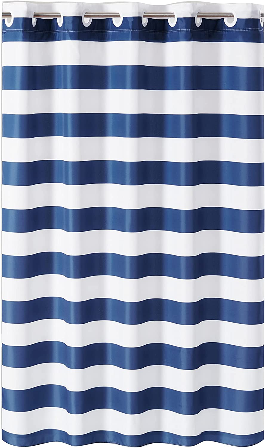 Hookless Cabana Max 52% OFF Stripe Shower Finally resale start Curtain with 74 Liner Peva 71 X