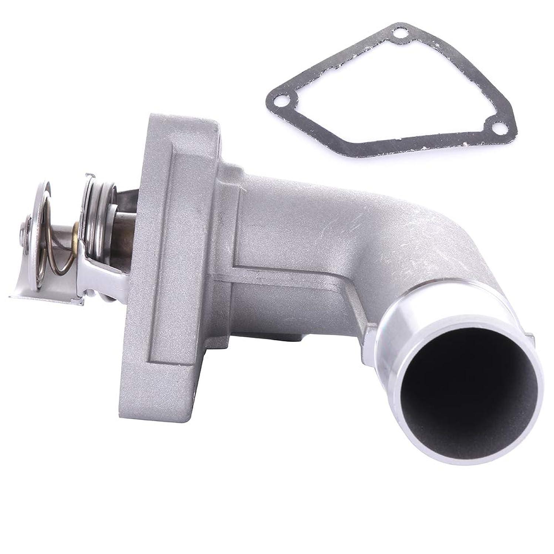 cciyu 21200-8J10B 13050-ZA000 Engine Coolant Thermostat Housing Kit Water Outlet Thermostat Housing Kit Replacement fit for 2002-2006 Nissan Altima 2003-2007 Nissan Murano
