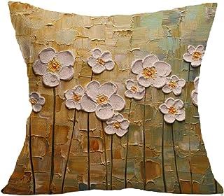 Chytaii. Fundas De Almohada Decorativas Árbol Margarita Creativa árboles Cuadrada Cojines del Hogar Sofá Dormitorio