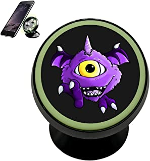 Hei Bai.J One Eyed One Horned Flying Magnetic Car Phone Holder Stand For Car Dashboard Mount