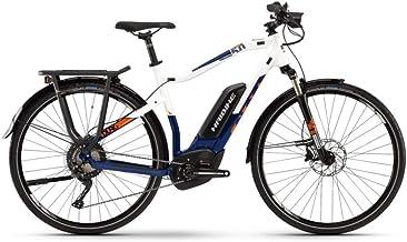 Haibike Sduro Trekking 5.0 Pedelec 2019 - Bicicleta eléctrica, color blanco, azul y naranja