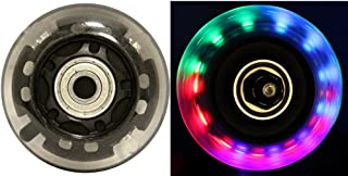LED Inline Wheels 64mm 82a Skate Roller blade Ripstik Light Up 4-Pack w/ Bearings