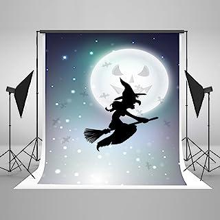 Kate 8x8ft(2.5mx2.5m) ハロウィーンの写真の背景の白い月光の魔女の背景の綿の折りたたみの背景写真のための小道具 J05548