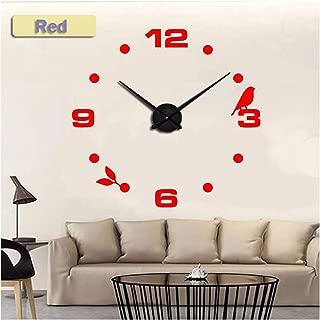 yuan kun 3D DIY Acrylic Mirror Wall Clock Home Decor Living Room Quartz Needle Digital Unique Clocks Watches