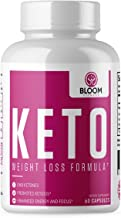 Keto Diet Pills - Weight Loss Formula with BHB Ketones - Promotes Ketosis, Enhanced Energy and Focus - 60 Capsules