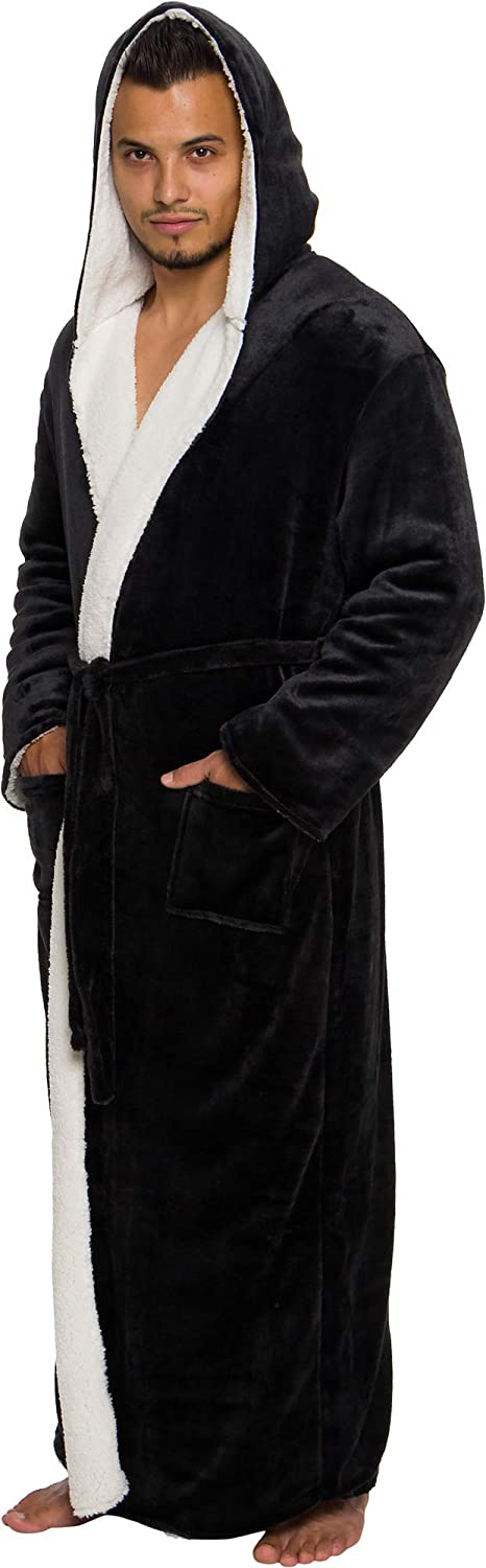 Ross Michaels Mens Robe Big Tall Plush - Hood with Recommended lowest price Sherpa Long