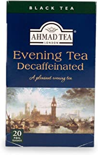 Ahmad Tea London Evening Decaffeinated Tea, 20 x 2 gm