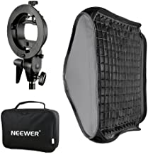 Neewer 24×24 inches Bowens Mount Softbox with Grid and S-Type Flash Bracket for..
