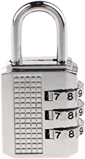 Prettyia 3 Dial Resettable Digit Combination Padlock Code Lock - Silver, as described