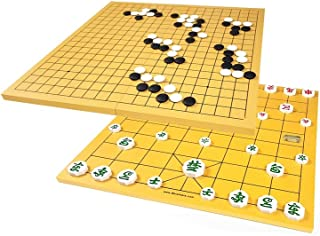 Go Board Game Set Baduk & Janggi Grow Up Smart with Plastic Stones Travel Games for Kids and Adults