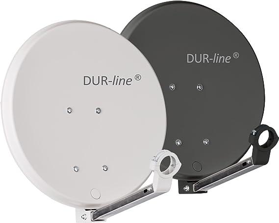 DuraSec de Line DSA 40 cm antracita Trade-Shop rígida de aluminio Espejo – [ – Antena parabólica, parabólica, camping, balcón, Mini, Boot]