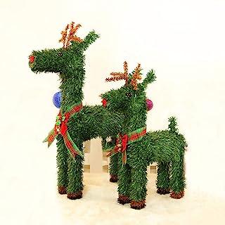小さくてコンパクト クリスマスエルクグラス鹿飾り家庭用飾り鹿ぬいぐるみパーティー用..