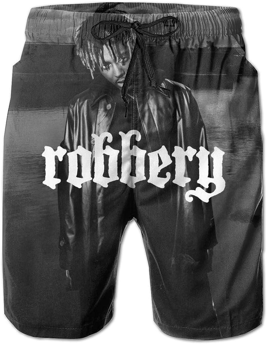 BobBThorpe Juice Wrld Robbery Mens University Pants Summer Swim Running Trunks Shorts