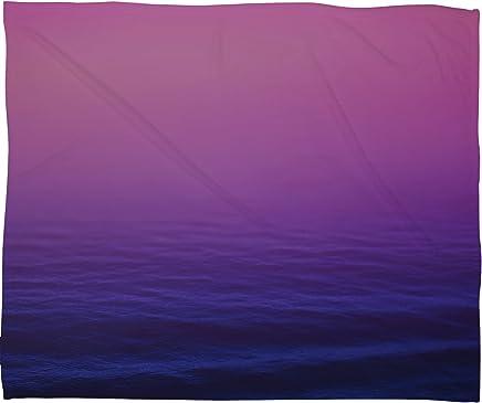 Deny Designs Leah Flores Sunset Waves Fleece Throw Blanket,  60 x 80