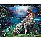 ジグソーパズル1000ピース木製ジグソーパズルセクシーな美しい人間の魚の少女パターン大木製パズルユニークな家の装飾とギフト