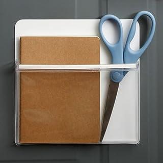 (Large) - OLizee Creative Magnetic Door Whiteboard Refrigerator Storage Pocket for Pen Note Paper Receipts Menus Keys (Large)
