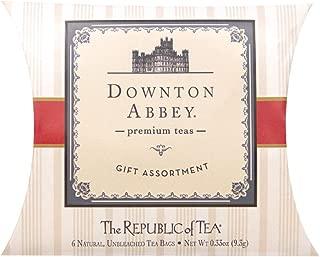 The Republic of Tea Downton Abbey Tea, 6 Tea Bag Sampler Pillow, Gourmet Collection Of Premium Teas